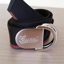 Casual-Gq Authentic Gucci 325 Signature D-Ring Buckle W/ Web Belt 42 105 Photo