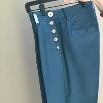 Casual Pants High by Claire Campbell Made in Italy  Size It 44 Us 8 Blue Photo