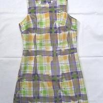 Casual Water Color-Like Design Sleeveless Sun Dress Size 7 Photo