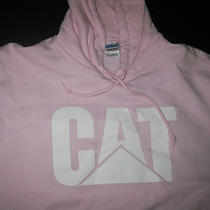 Cat Caterpillar Blush Pink Hoodie Sweatshirt Size Mens M Womens L Hooded Top 40