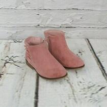 Cat & Jack Toddler Girl Size 7 Unity Microsuede Fashion Ankle Booties Blush Pink Photo