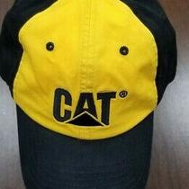Caterpillar Cat Heavy Equipment Black & Yellow Strapback Cap Hat Trucks Diesel Photo