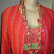 Catherine Andre Cardigan Top & Necklace Set Missoni Designer Photo