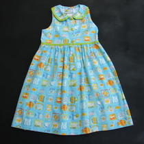Catherine Rebecca Aqua Blue Fish Beach Shell Spring Summer Dress Girl Size 5 Euc Photo