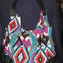 Cato Navajo Indian Tribal Print Large Hobo Tote Shopper Nwt Purse Handbag Look Photo