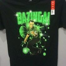 Cbs Big Bang Theory Bazinga Sheldon Cooper Mens Club T-Shirt Size S or L Tv Show Photo