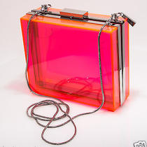 Cc Skye the Sunset Boulevard Clutch Bag in Neon Pink Photo