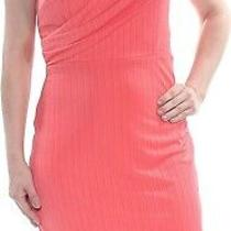 Cece 249779 Women's Stephanie Crinkle Knit Faux Wrap Dress Coral Bloom Size 10 Photo