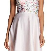 Cece Womens Dress Pink Size 10 Fit N Flare Garden Bloom Floral Skater 148 529 Photo