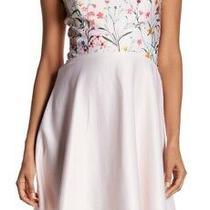 Cece Womens Dress Pink Size 8 Fit N Flare Garden Bloom Floral Skater 148 489 Photo