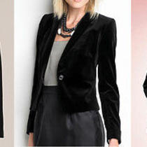 Celebrity Pristine Classic Black Velvet Jacket Blazer Donna Karen Ny S M 8 10 Photo