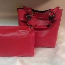 Celebrity Women Shoulder Totes Hobo Pu  Leather Red Two in One Shopping Bag  Photo