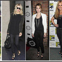 Celebs Wear New 168 Dl1961 Emma 24 Leggings Jeans in Black Lacquer Photo