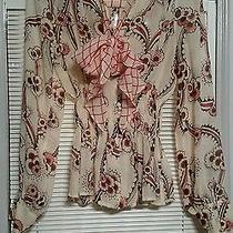 Celia Birtwell for Express Print Silk Blouse Xs Photo