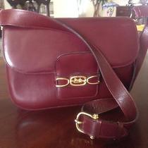 Celine 1980's Burgundy Vintage Shoulder Strap Handbag Sac Bandouliere  Photo