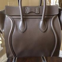 Celine Auth Pebbled Drummed Leather Luggage Mini Souris Cyber Monday Only Photo