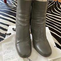 Celine Bam Bam  Gray Silver Metallic Heel Boots - Size 38.5 - Orig 890  Bny Photo