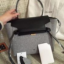 Celine Belt Tote Bag Small Grey Photo