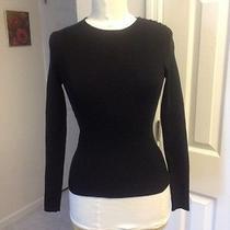 Celine Black 90s Grunge Revival Classic Black Sweater Top Sz M Photo