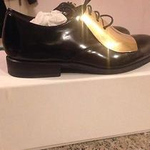 Celine Black and Gold Plated Derby Dress Shoes 41 Photo