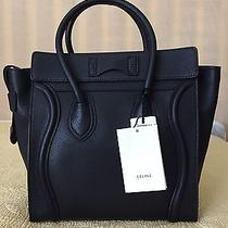 Celine Black Drummed Leather Micro Luggage New With Tags Photo