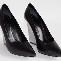 Celine  Black Leather  Acrylic Pump Platform  Heel Xlnt  Sz 35.5 Photo