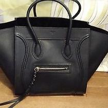 Celine Black Phantom Authentic Black Pebbled Leather Photo