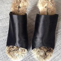 Celine Black Rabbit Fur Heels Photo