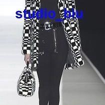 Celine Black Wool Metal High Rise Zipper Pocket Pants 40 8 Photo