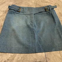 Celine Blue Denim Skirt Size 36 Photo