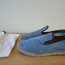 Celine Blue Pony Hair Espadrille Slip on Shoes Size 38 Us 8 Photo