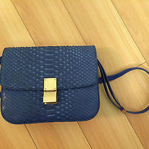 Celine Blue Snakeskin Box Photo