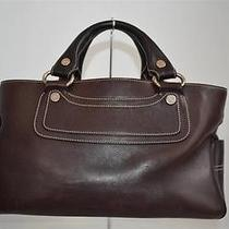 Celine Brown Leather Boogie Bag/handbag/purse Photo