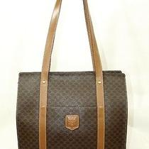 Celine Brown Macadam Leather Handbag Tote Bag Photo
