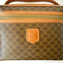 Celine Brown Macadam Vanity Bag - Excellent Condition Photo