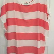 Celine by Champion Women's Striped Blouse W/necklace Sz 1x Photo