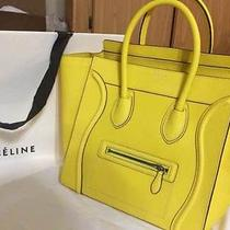 Celine Citron Mini Luggage in Drummed Calfskin Leather Photo