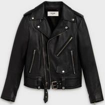 Celine Classic Biker in Calfskin Leather Jacket Sz 42(m) Nwt Authentic Msrp4950 Photo