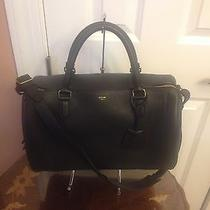 Celine Drummed Leather Asymmetrical Satchel  Photo