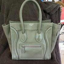 Celine Drummed Leather Micro Luggage Bag Souris Photo