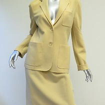 Celine Finition Main Skirt Suit Beige Size 42 Gently Worn Photo