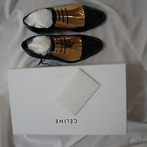 Celine Gold Metal Plate Oxford Shoes Size 36 New in Box Photo