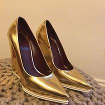 Celine Gold Pumps Photo