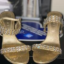 Celine Gold Sandals With Rhinestone Straps 38 Photo