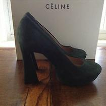 Celine Green Suede Pumps Photo