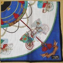 Celine Horse Carriage See-Through Handkerchief 48cm /ginmak Photo