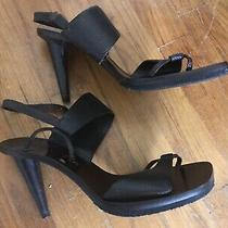 Celine Leather High Heel Sandals Made in Italy Size 37 (One Needs Repair) Photo