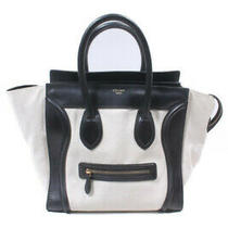 Celine Luggage Medium Shopper Bag Tote Different Materials White Black /hk0531 Photo