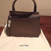 Celine Medium Edge Grained Medium Grey Photo