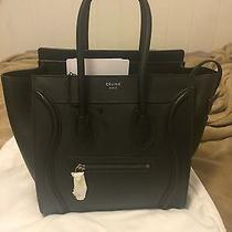 Celine Micro Luggage Drummed Leather Authentic Photo